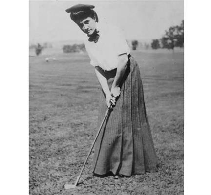 MISS BESSIE ANTHONY � GLEN VIEW'S DAUGHTER: Unrivaled Western Champion golfer, Bessie Anthony, won an astounding 14 golf tournaments in a brief four-year span from 1901 through 1903, including the first three Women's Western Amateur Championships. Bessie capped 1903 with her fifth title of the year, the US Amateur at Chicago Golf Club, cementing her legacy as the greatest woman golfer of the era.